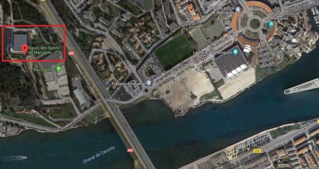 Plan Palais des Sports